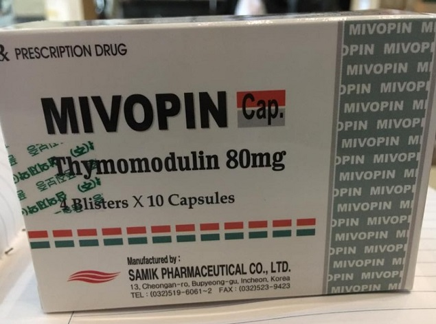 Thuốc Mivopin 80mg Thymomodulin hỗ trợ điều trị các bệnh nhiễm trùng