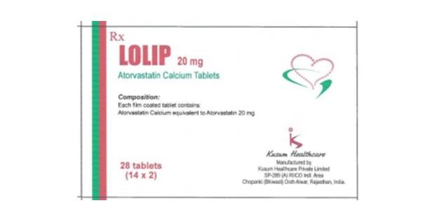Thuốc Lolip Tablets 20mg Atorvastatin giảm cholesterol toàn phần