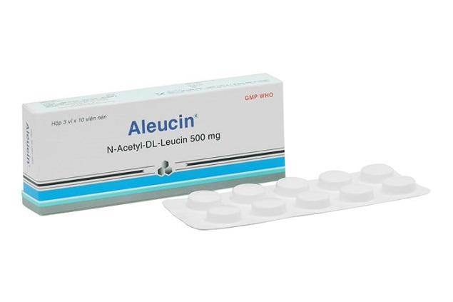 Thuốc Aleucin 500mg N-Acetyl-DL-Leucin điều trị chóng mặt
