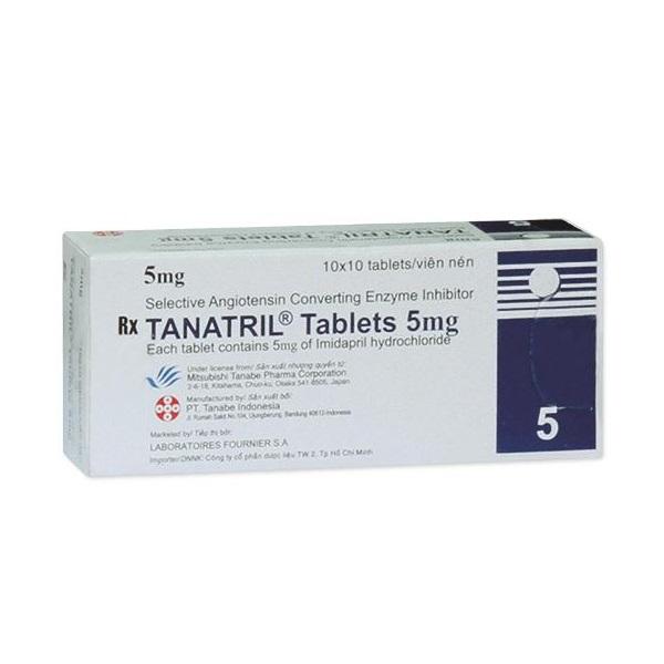 Thuốc Tanatril Tablets 5mg Imidapril hydroclorid điều trị tăng huyết áp