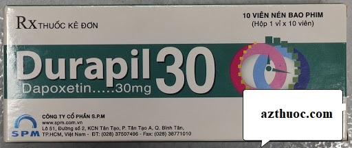 Thuốc Durapil 30mg Dapoxetin điều trị xuất tinh sớm ở nam giới