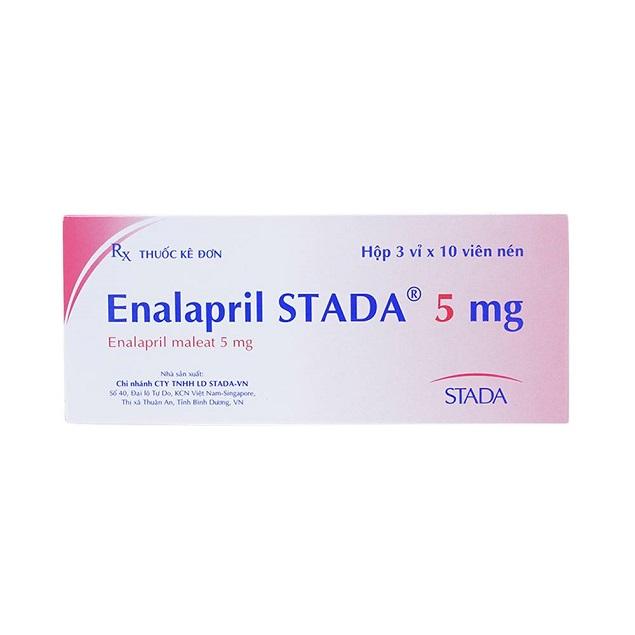 Thuốc Enalapril Stada 5mg điều trị cao huyết áp, suy tim