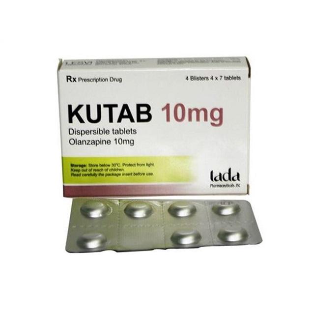Thuốc Kutab 10mg Olanzapine điều trị tâm thần phân liệt
