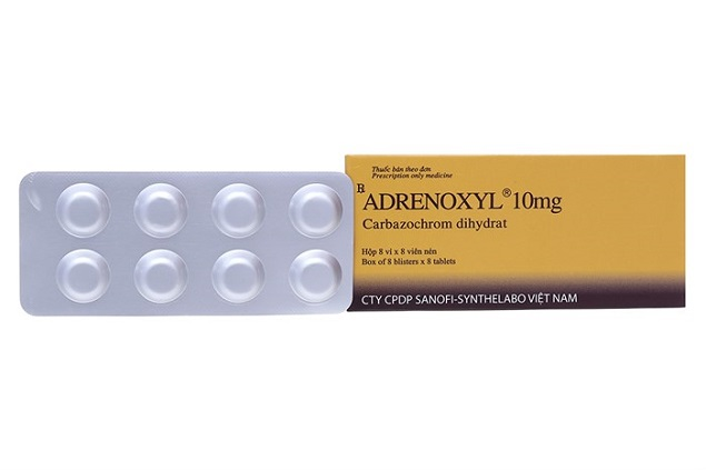 Thuốc Adrenoxyl 10mg Carbazochrom cầm máu để phẫu thuật ngoại khoa và điều trị xuất huyết do mao mạch