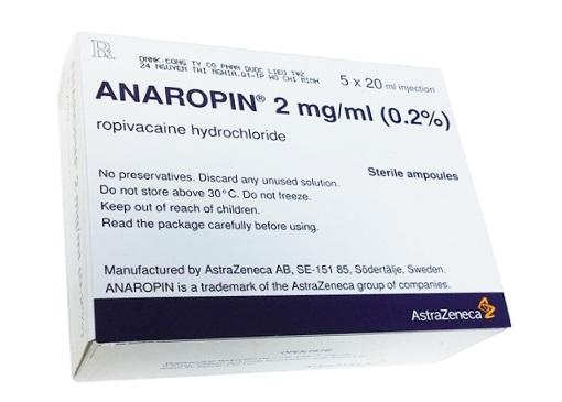 Thuốc Anaropin 2mg/ml Ropivacain HCl gây mê