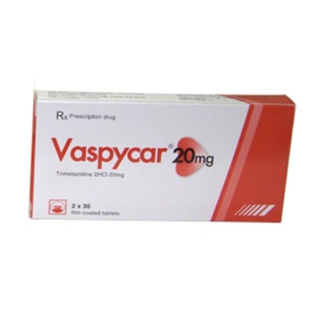 Thuốc Vaspycar 20mg Trimetazidin dihydroclorid điều trị các cơn đau thắt ngực