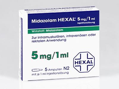 Thuốc Midazolam 5mg/ml an thần