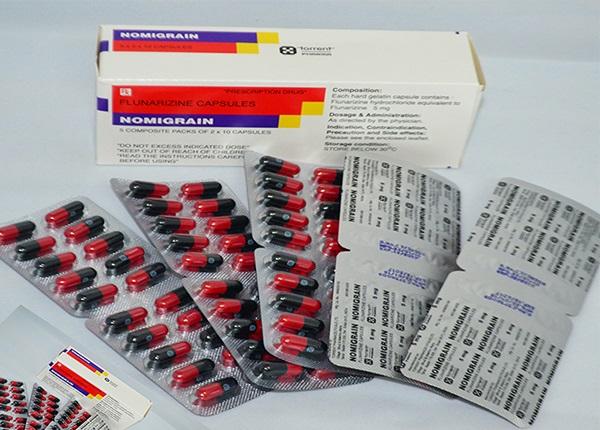 Thuốc Nomigrain 5mg Flunarizine dự phòng và điều trị chứng đau nửa đầu