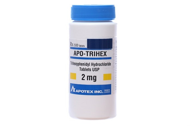 Thuốc Apo-Trihex 2mg Trihexyphenidyl hydroclorid trị Parkinson