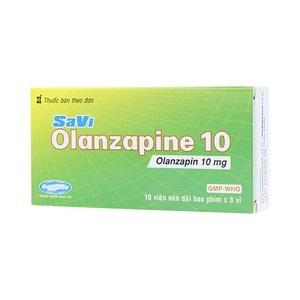 Thuốc SaVi Olanzapine 10 10mg Olanzapin điều trị các bệnh lý tâm thần
