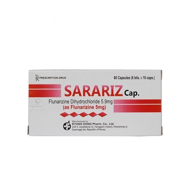 Thuốc Sarariz Cap 5mg Flunarizin dự phòng và điều trị chứng đau nửa đầu