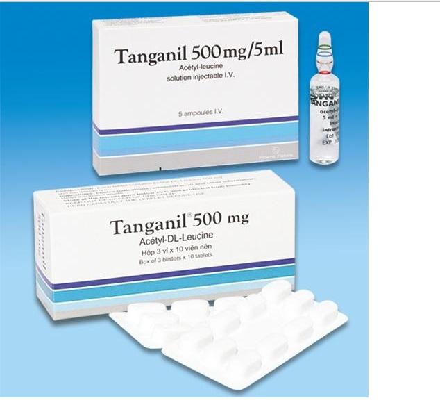 Thuốc Tanganil 500mg Acetyl leucin điều trị cơn chóng mặt