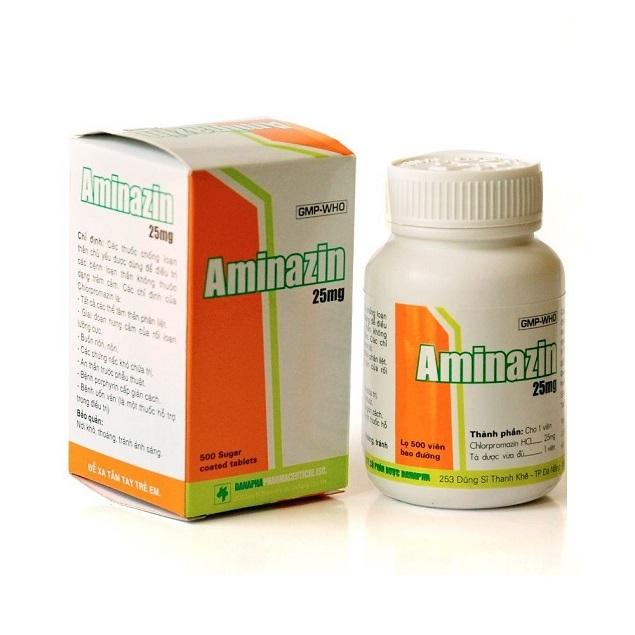 Thuốc Aminazin 25mg Clorpromazin hydroclorid điều trị các thể tâm thần phân liệt