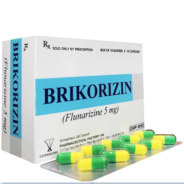 Thuốc Brikorizin 5mg Flunarizin dự phòng và điều trị chứng đau nửa đầu
