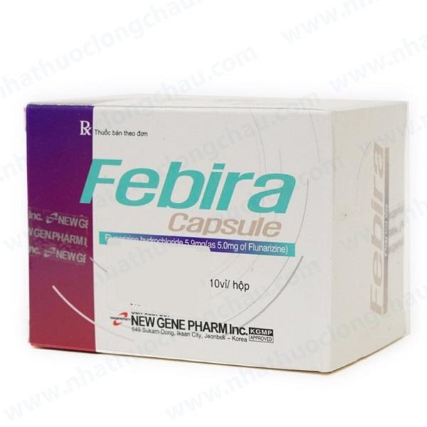 Thuốc Febira 5mg Flunarizine dự phòng và điều trị chứng đau nửa đầu