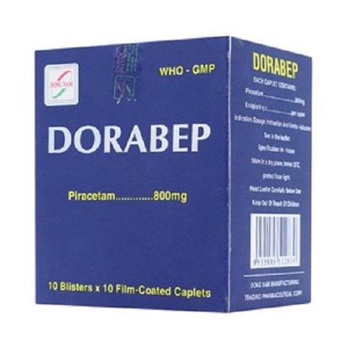 Thuốc Dorabep 800mg Piracetam tuần hoàn não, điều trị các triệu chứng chóng mặt