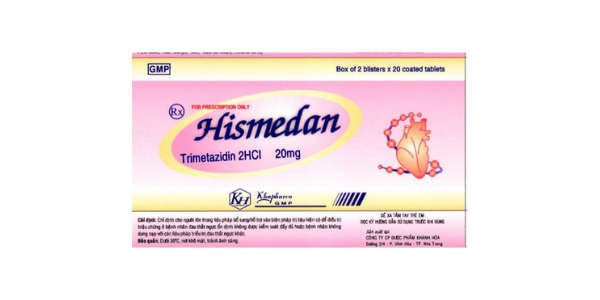 Thuốc Hismedan 20mg Trimetazidine dihydrochloride điều trị đau thắt ngực