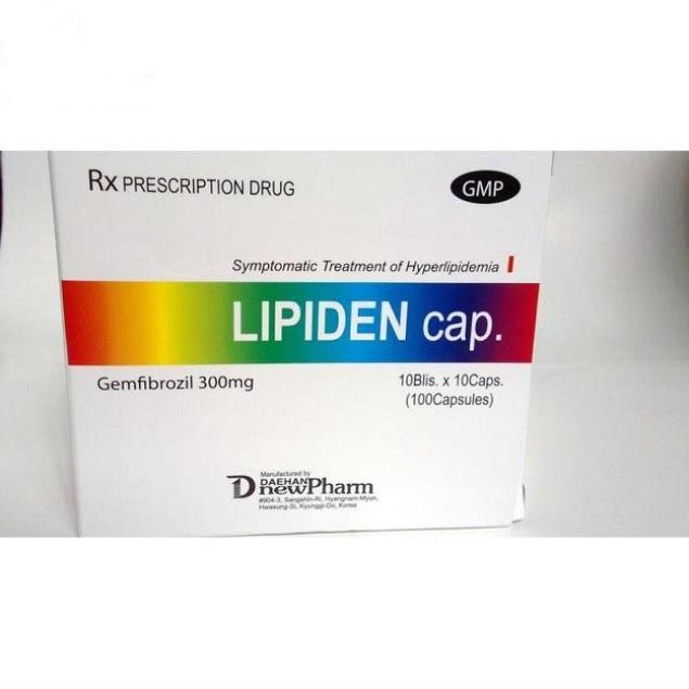 Thuốc Lipiden Caps điều trị chứng tăng lipid máu