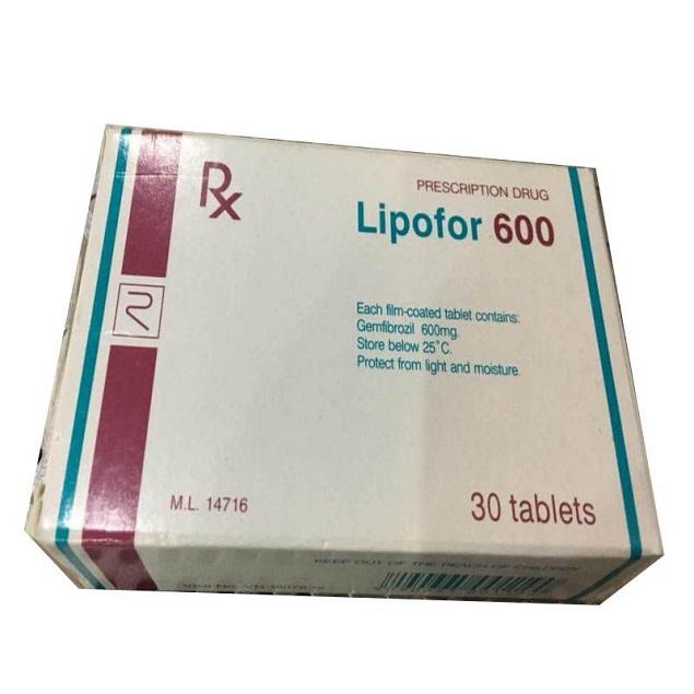 Thuốc Lipofor 600mg Gemfibrozil trị tăng cholesterol trong máu