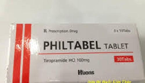 Thuốc Philtabel injection 50mg Tiropramide Hydrochloride điều trị các trường hợp co thắt dạ dày ruột, hội chứng ruột kích thích