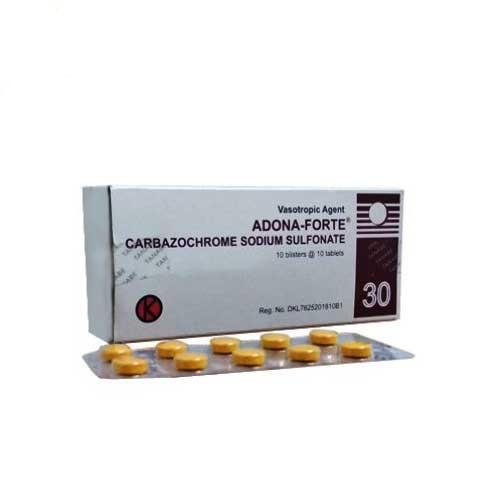 Thuốc Adona 30mg Carbazochrome thuốc cầm máu, tăng sức bền thành mạch