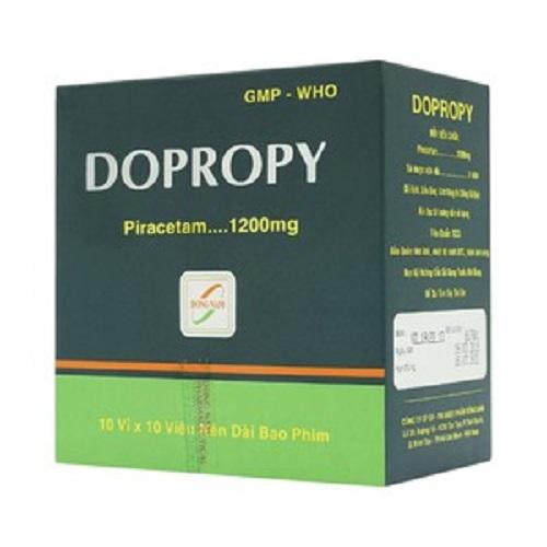 Thuốc Dopropy 1200mg Piracetam điều trị triệu chứng chóng mặt
