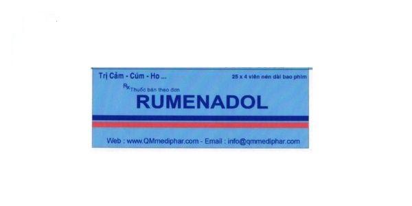 Thuốc Rumenadol điều trị triệu chứng cảm cúm như ho, sốt, nhức đầu
