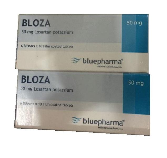 Thuốc Bloza 50mg Losartan kali điều trị tăng huyết áp