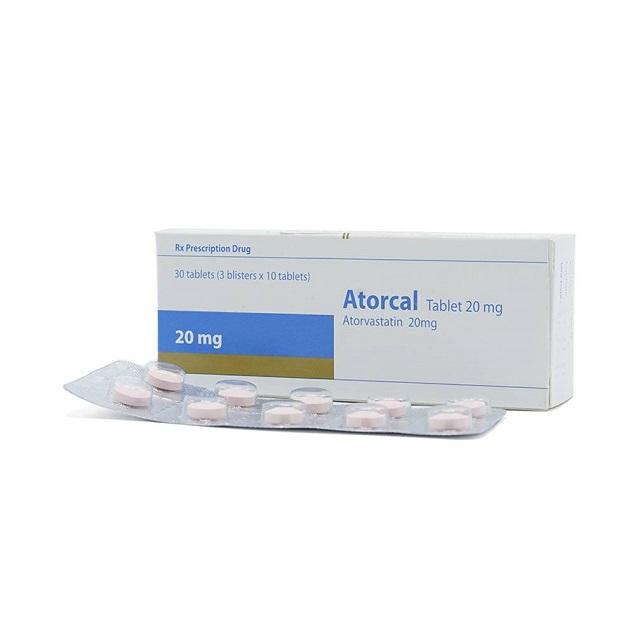 Thuốc Atorcal Tablet 20mg Atorvastatin calcium làm giảm cholesterol toàn phần