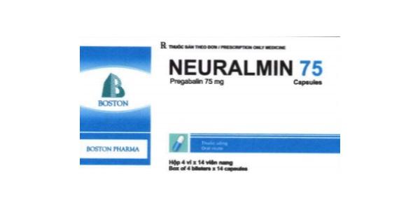 Thuốc Neuralmin 75 75mg Pregabalin điều trị đau thần kinh, rối loạn lo âu lan tỏa ở người lớn