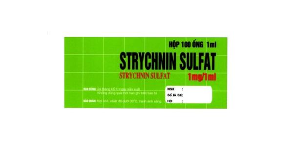 Thuốc Strychnin sulfat điều trị chứng nhược cơ, mệt mỏi, suy nhược, ăn không ngon