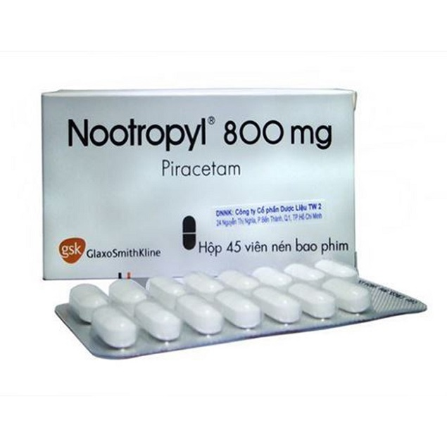 Thuốc Nootryl 800 800mg Piracetam điều trị chứng rung giật cơ có nguồn gốc vỏ não