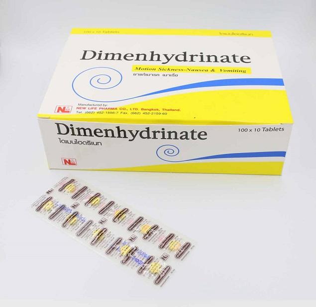 Thuốc Dimenhydrinate 50mg điều trị chứng say tàu xe