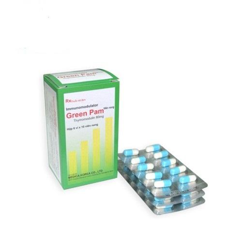 Thuốc Green Pam 80mg Thymomodulin giúp hỗ trợ điều trị nhiễm trùng