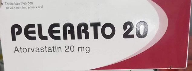 Thuốc Pelearto 20mg Atorvastatin giảm cholesterol toàn phần