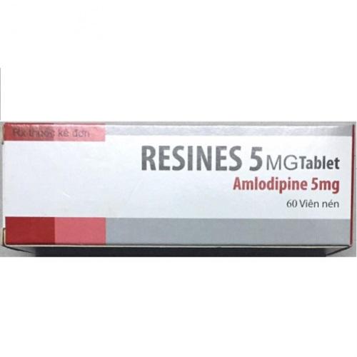Thuốc Resines 5mg Amlodipine besylate điều trị cao huyết áp