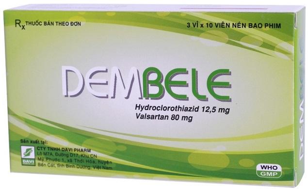 Thuốc Dembele điều trị tăng huyết áp