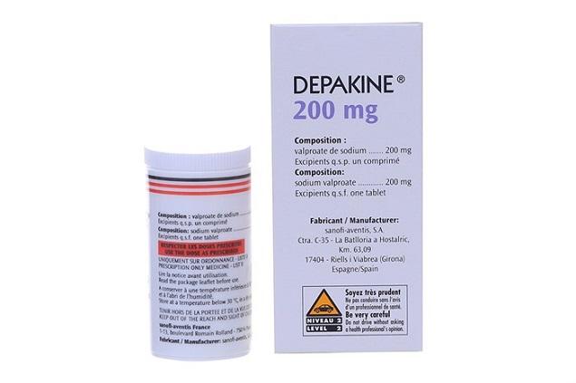 Thuốc Depakine 200mg Natri valproat điều trị động kinh, co giật