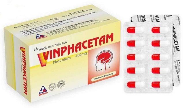 Thuốc Vinphacetam 400mg Piracetam điều trị các bệnh do tổn thương não