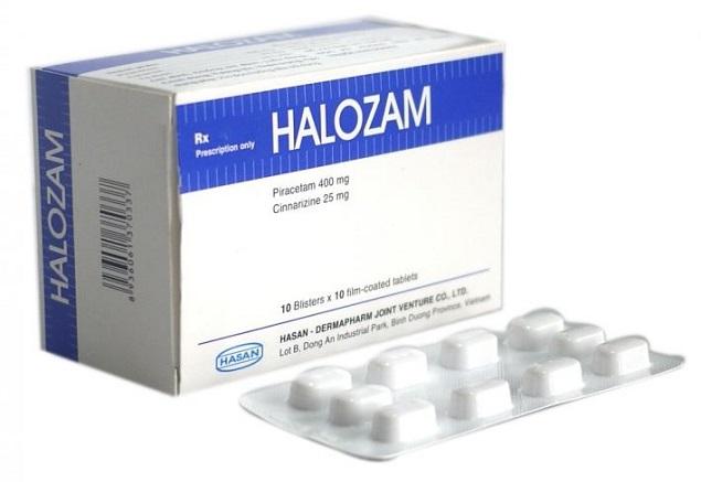 Thuốc Halozam điều trị rối loạn mạch máu não
