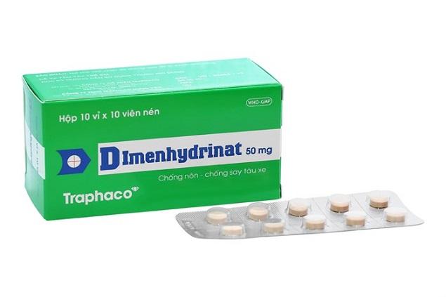 Thuốc Hanodimenal 50mg Dimenhydrinat điều trị chứng say tàu xe