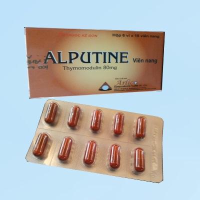 Thuốc Alputine Capsule 80mg Thymomodulin hỗ trợ dự phòng tái phát nhiễm khuẩn hô hấp