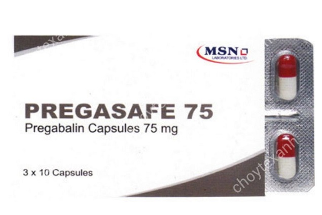 Thuốc Pregasafe 75 75mg Pregabalin điều trị đau thần kinh