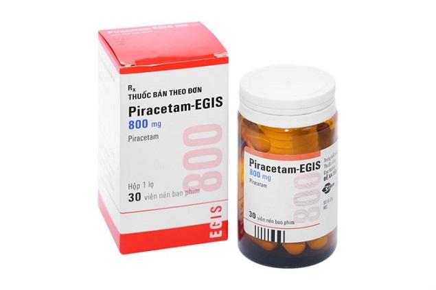 Thuốc Piracetam Egis 1200mg điều trị giật rung cơ do vỏ não, chóng mặt, rối loạn thăng bằng đi kèm