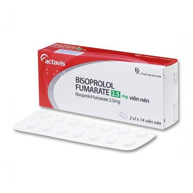 Thuốc Bisoprolol Fumarate 2.5mg điều trị tăng huyết áp, đau thắt ngực, suy tim