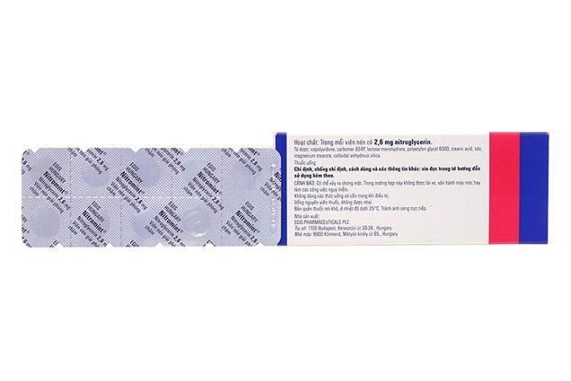 Thuốc Nitromint 2,6mg Nitroglycerin ngăn ngừa đau thắt ngực