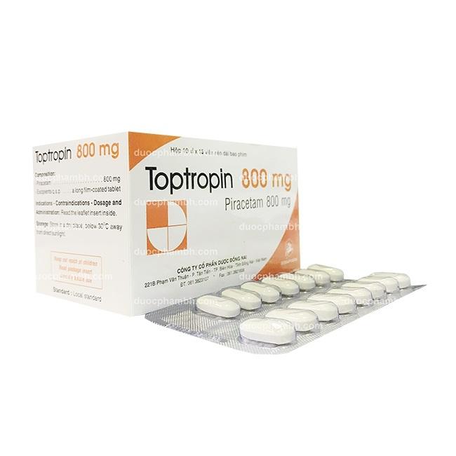 Thuốc Toptropin 800mg Piracetam điều trị triệu chứng chóng mặt
