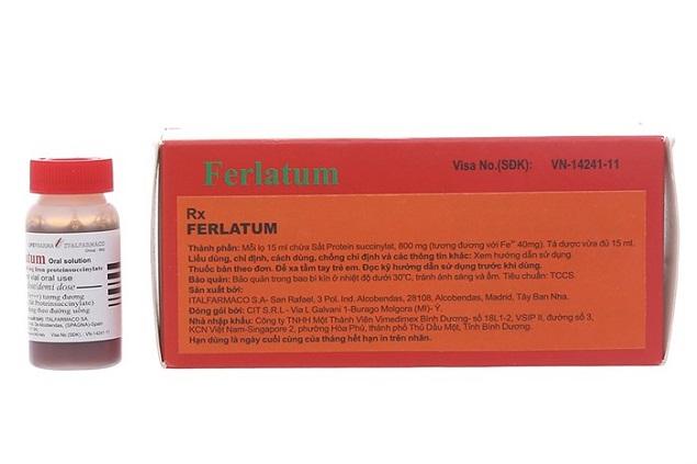 Thuốc Ferlatum điều trị tình trạng thiếu hụt sắt, thiếu máu do thiếu sắt