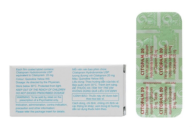 Thuốc Citopam 20mg Citalopram điều trị rối loạn lo âu và trầm cảm