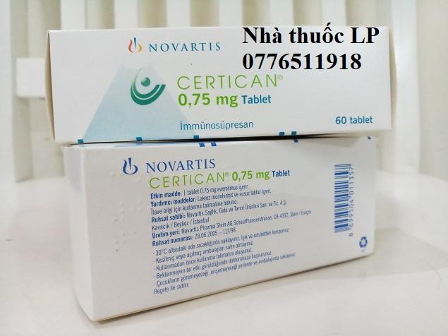 Thuốc Certican 0.75mg Everolimus điều trị dự phòng thải ghép nội tạng (4)